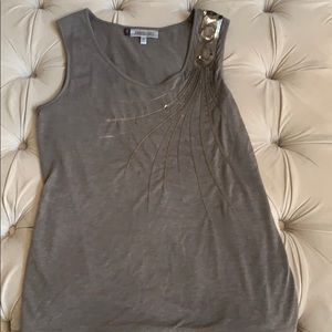 Women's tank top with sequin detail